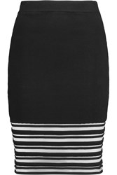 Rebecca Minkoff Petra Paneled Stretch Knit Mini Skirt Black