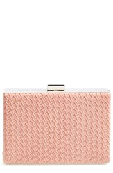Natasha Couture Woven Box Clutch