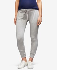 A Pea In The Pod Maternity Under Belly Jogger Pants Heather Grey