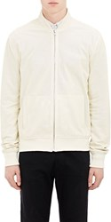 Atm Anthony Thomas Melillo Perforated Bomber Jacket White