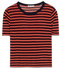 Alexander Wang Striped Jersey T Shirt Red