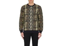 Givenchy Men's Python Print French Terry Sweatshirt No Color