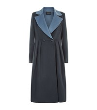 Emporio Armani Double Breasted Wool Coat Grey