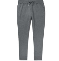 Dunhill Tapered Loopback Wool And Cashmere Blend Sweatpants Gray