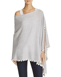 Minnie Rose Embellished Cashmere Ruana Light Heather Gray
