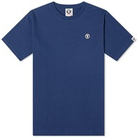 Aape By A Bathing Ape One Point Tee Blue