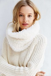 Urban Outfitters Cozy Plush Neckwarmer Ivory