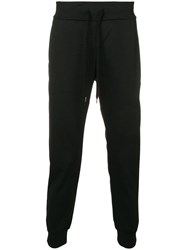Attachment Drawstring Waist Tapered Trousers Black
