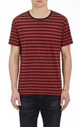 R 13 R13 Men's Striped Jersey T Shirt Red
