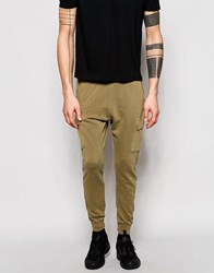 Pull And Bear Joggers In Khaki Khaki