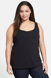 Plus Size Women's Nic Zoe 'Modern Perfect' Knit Tank Black Onyx