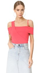 Jason Wu Asymmetrical Shoulder Top Neon Pink