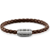 Thomas Sabo Unity Plaited Leather Branded Clasp Bracelet