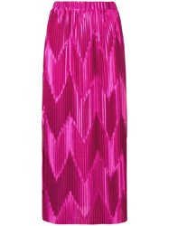Givenchy Zig Zag Pleated Skirt Pink