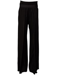 Ann Demeulemeester Front Slit Palazzo Trousers Black