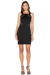 Bobi Black Double Knit Sleeveless Bodycon Mini Dress