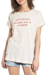 Wildfox Couture Women's Part Time Destructed Tee