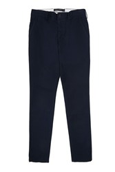 French Connection Men's Big Spin Pima Cotton Trousers Navy