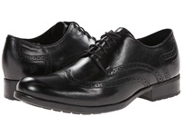 Born Paulo Black Full Grain Men's Lace Up Wing Tip Shoes