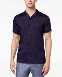 Ryan Seacrest Distinction Men's Slim Fit Navy Knit Sport Shirt Created For Macy's