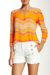 Julie Brown Grayson Blouse Orange