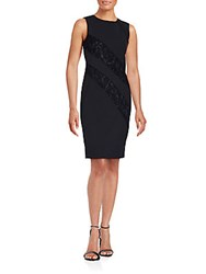 Calvin Klein Solid Lace Panel Dress Black