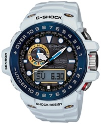 G Shock Men's Analog Digital Gulfmaster White Resin Strap Watch 45X56mm Gwn1000e 8A No Color