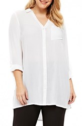 Evans Plus Size Beach Shirt White