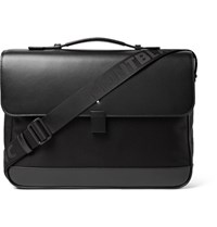 Montblanc Nightflight Leather Trimmed Nylon Briefcase Black