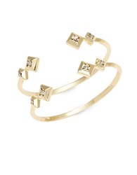 House Of Harlow Two Crystal Accented Goldtone Cuffs