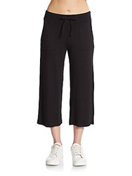 Andrew Marc New York Cropped Culottes Black