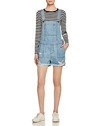 Dl1961 Cara Denim Short Overalls In Campfire