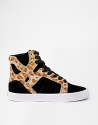 Supra Skytop Cheetah High Top Trainers Blackcheetahwhite