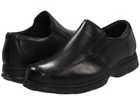 Dunham Blair Twin Gore Slip On Black Smooth Men's Flat Shoes