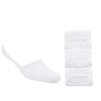 John Lewis Trainer Socks Pack Of 3 One Size White