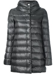 Herno Stand Collar Padded Jacket Brown