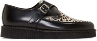 Underground Black Leopard Calf Hair Apollo Creepers