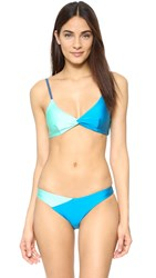 Minkpink Sea Splice Twist Bikini Top Multi