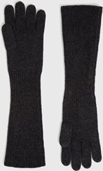 Allsaints Full Needle Cuff Gloves Charcoal