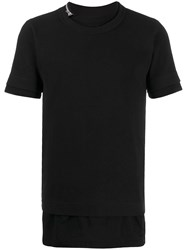 Sacai Side Zip Crew Neck T Shirt 60