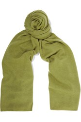 Magaschoni Cashmere Scarf Leaf Green
