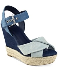 Guess Women's Sanda Wedge Sandals Women's Shoes Denim
