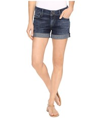 Hudson Croxley Mid Thigh Shorts In Evasion Evasion Women's Shorts Blue