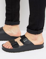 Asos Sandals In Black With Buckle Black