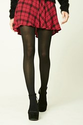 Forever 21 Solid Chevron Tights