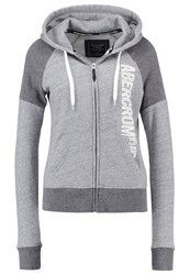 Abercrombie And Fitch Core Tracksuit Top Grey Mottled Grey