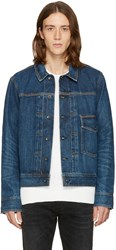 Rag And Bone Blue Denim Bartack Jacket