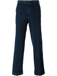 Canali Straight Leg Denim Trousers Blue