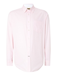 T.M.Lewin Oxford Relaxed Fit Casual Shirt Pink