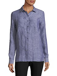 Saks Fifth Avenue Classic Linen Tunic Ink